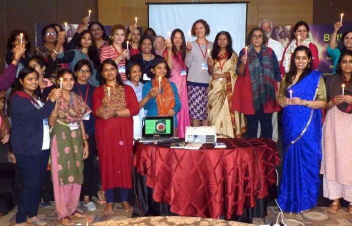 Group celebrating humanity