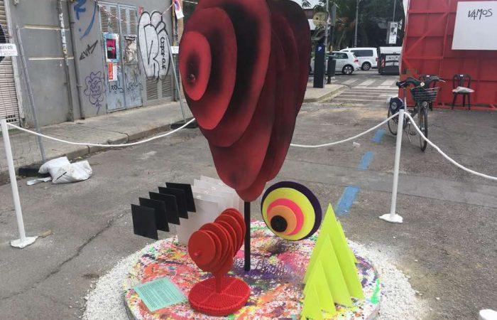 Artwork in street